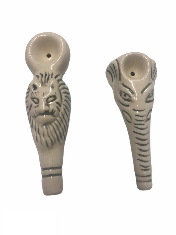 Ceramic Animal Pipe