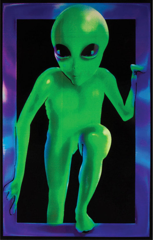 Alien Window Black Light Poster