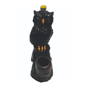 Black Owl Handcrafted Clay Pipe