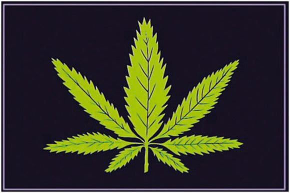 Pot Leaf Black Light Poster