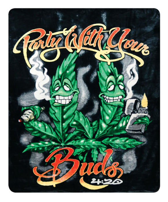 Party With Your Buds Fleece Blanket - 76