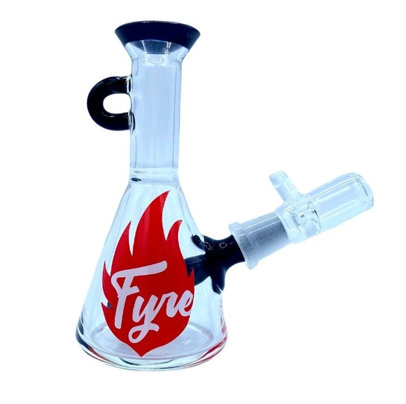 Mini Glass Fyre Locket Bong - Clear