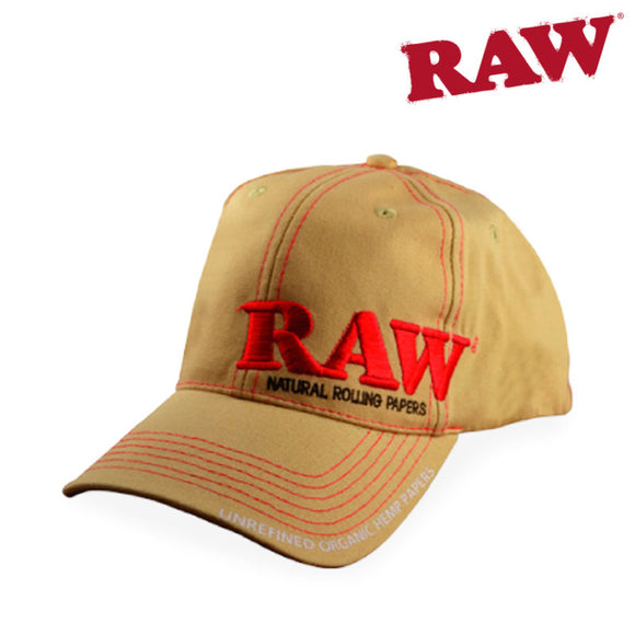 Raw Authentic Tan Adjustable Baseball Hat