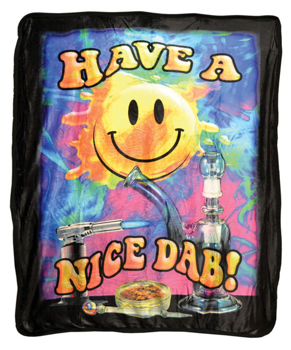 Have a Nice Dab Plush Fleece Blanket