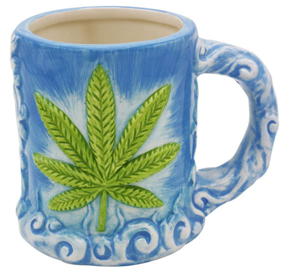 Blue Hemp/Pot Leaf Coffee Mug