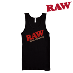 RAW Smoking Ladies Ribbed Tank Black