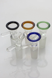 Glass Funnel Bowl with Accented Edge- 14mm (Various Colours)