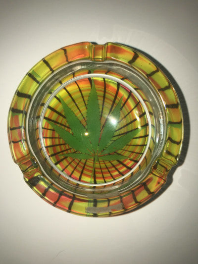 Glass Leaf Ash Tray