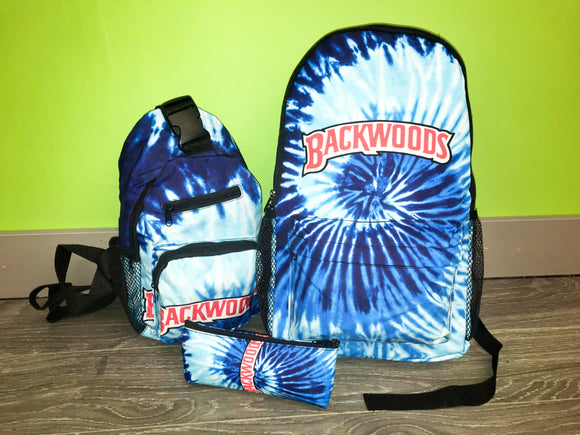 3pcs Blue Backwoods Backpack