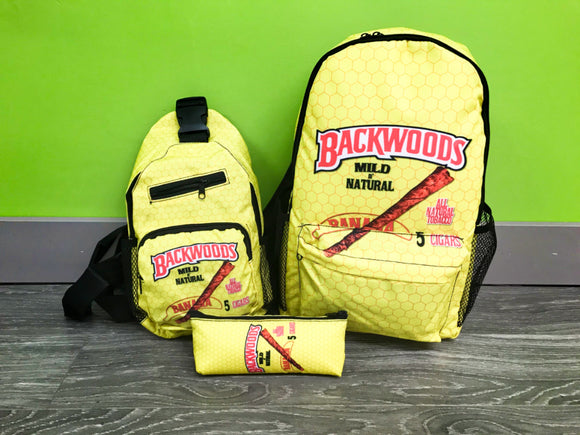 3pcs Yellow Backwoods Backpack