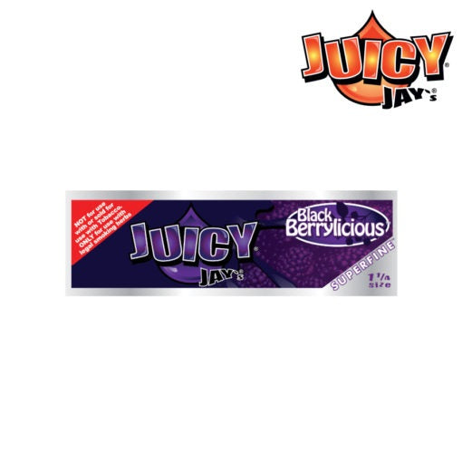 Juicy Jay's Superfine Flavoured Rolling Papers 1 1/4 - Black Berrylicious