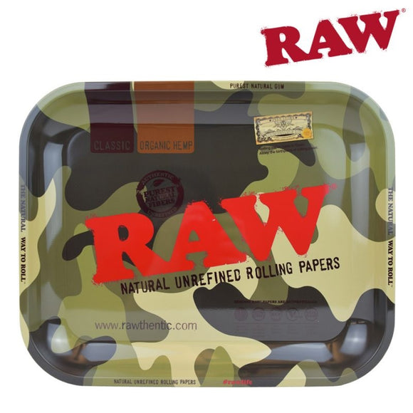 Raw Camo Rolling Tray - Large
