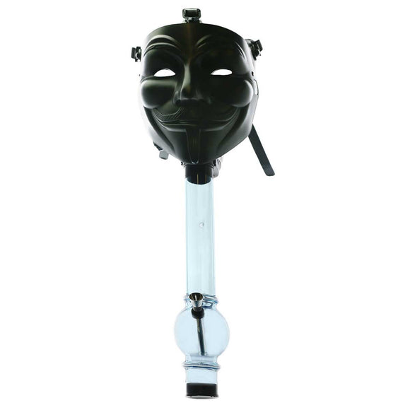 Guy Fawkes Cover - Black Silicone Gas Mask