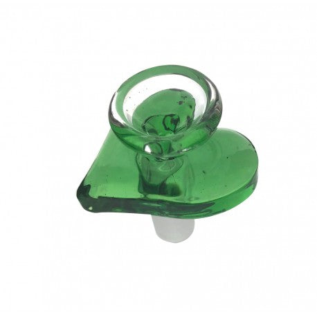 Green Heart Glass Bowl - 14mm