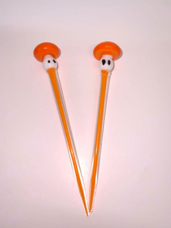 Orange Mushroom Glass Dabber