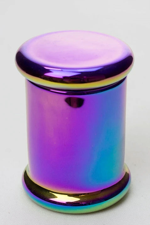 Rainbow Glass Stash Storage Jar - 3 oz