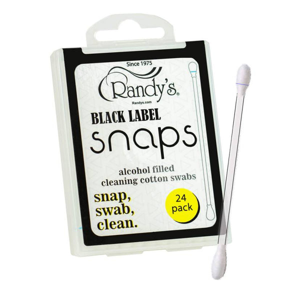 Randy's Black Label Snaps - Alcohol Filled Cotton Swabs