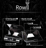 Rowll King Slim Rolling Papers w/ Filters, Grinder & Rolling Surface