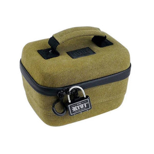 RYOT Safe Case Carbon Series w/ SmellSafe & Lockable Technology w/ Lock - Small 2.3L
