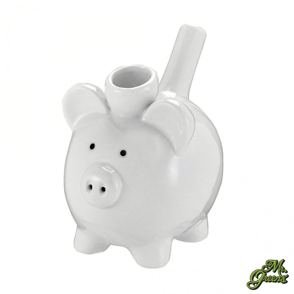 Piggy Ceramic Pipe White