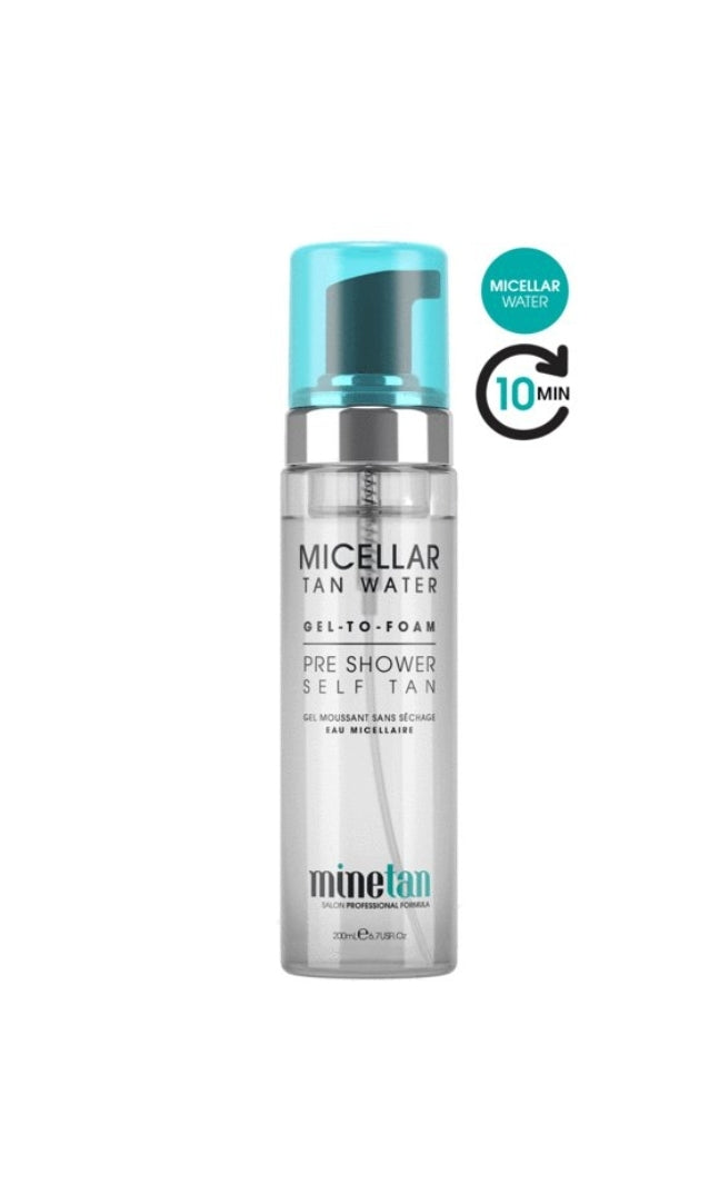MineTan Micellar Tan Water Pre Shower Foaming Self Tan 200ml
