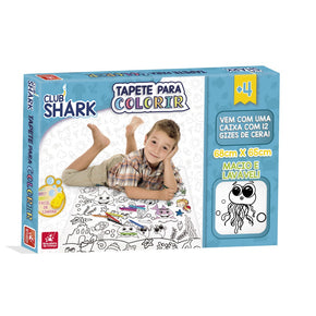 Tapete para Colorir Club Shark