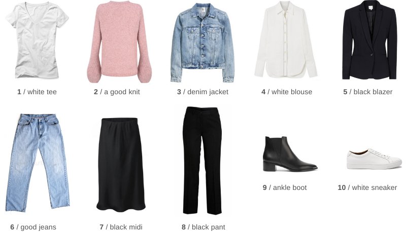 top 10 wardrobe key fashion items