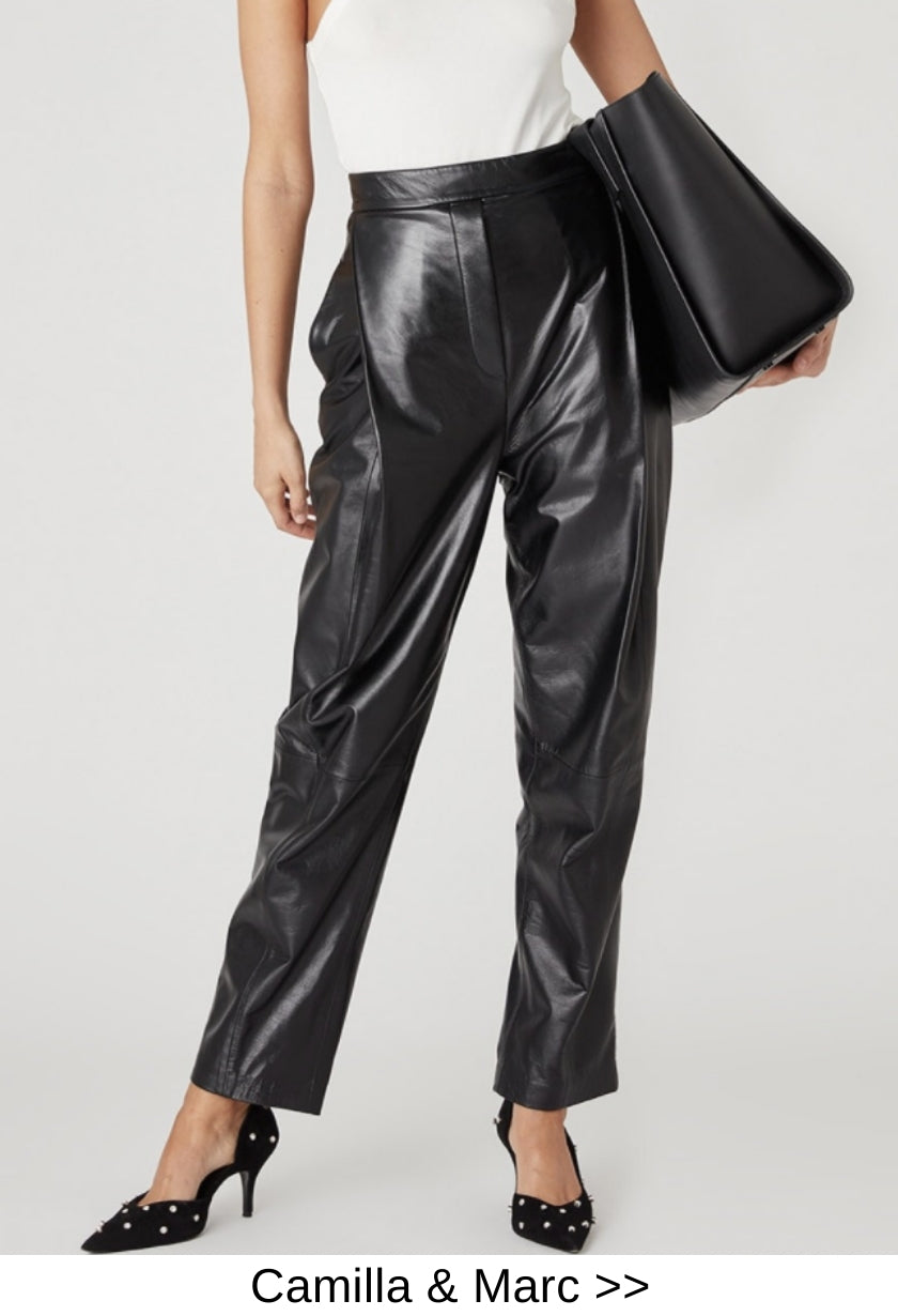 designer leather pants