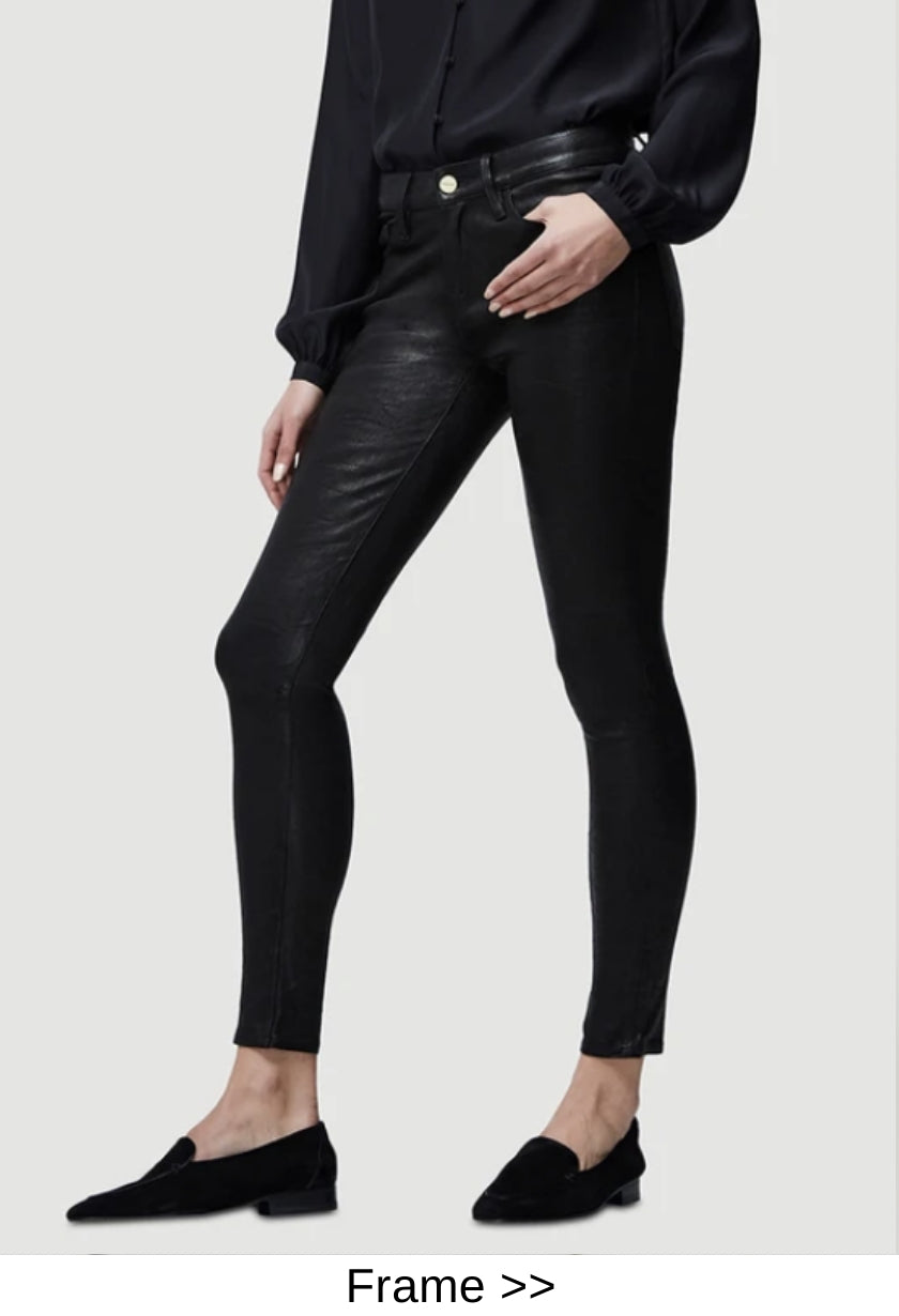 black leather pants designer style