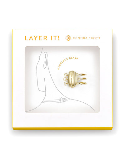 Kendra Scott Layer It Necklace Clasp Gold