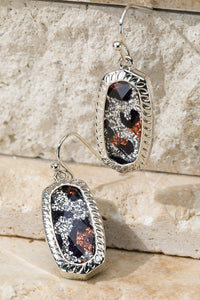 Shimmering Leopard Earrings