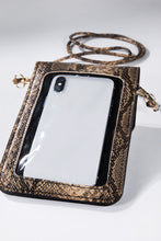 Load image into Gallery viewer, Snake Print Cellphone Cross Body Bag