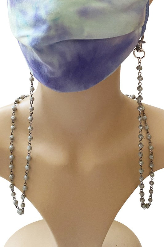 Crystal Metal Chain Mask Holder