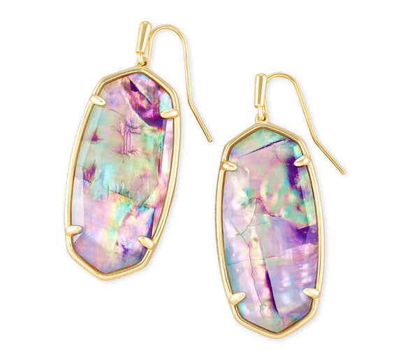 Kendra Scott Lilac Abalone Faceted Elle-Gold