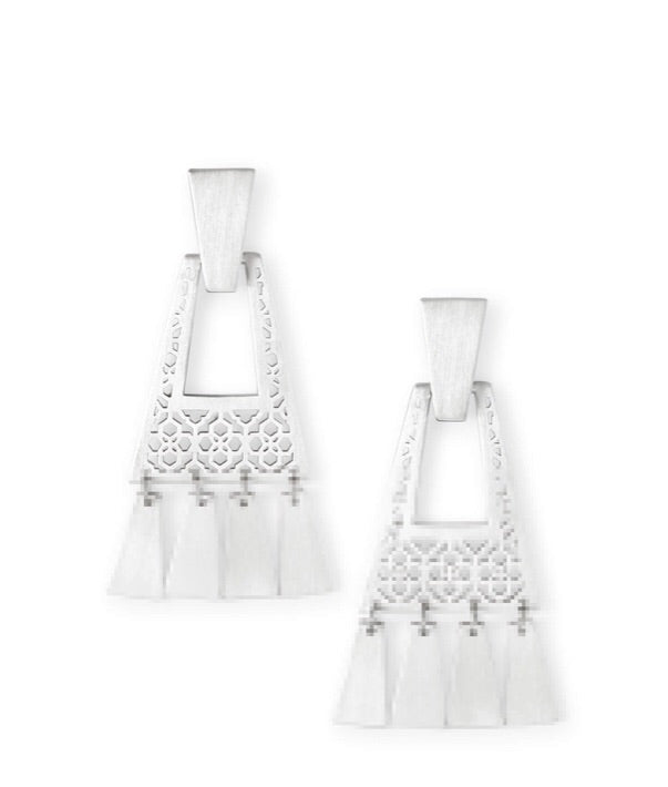 Kendra Scott Kase Earrings-Silver