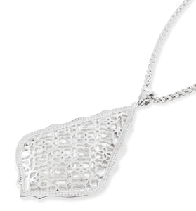 Kendra Scott Aiden Silver Filigree Necklace- Silver