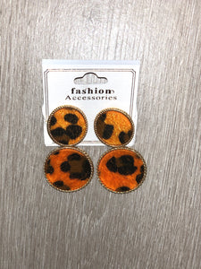 Leopard O Earrings