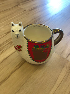 Natural life Folk Mug Holliday Llama