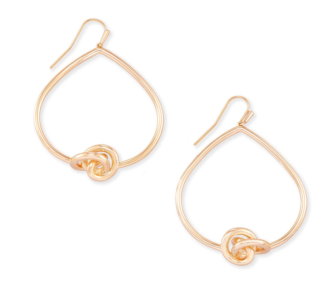 Kendra Scott Presleigh Open Frame Earrings-Rose Gold