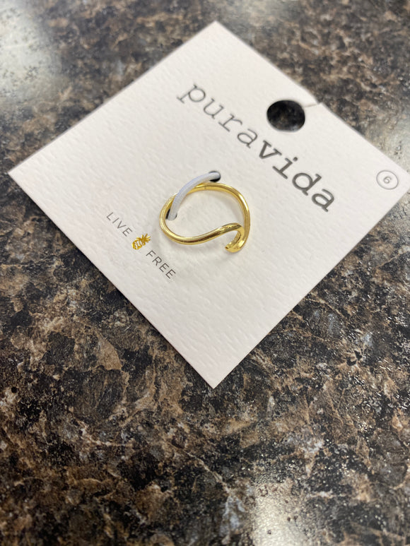 Puravida Original Wave Ring