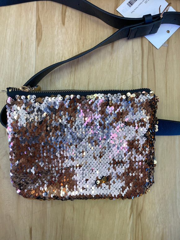 Rose gold sequin fanny pack