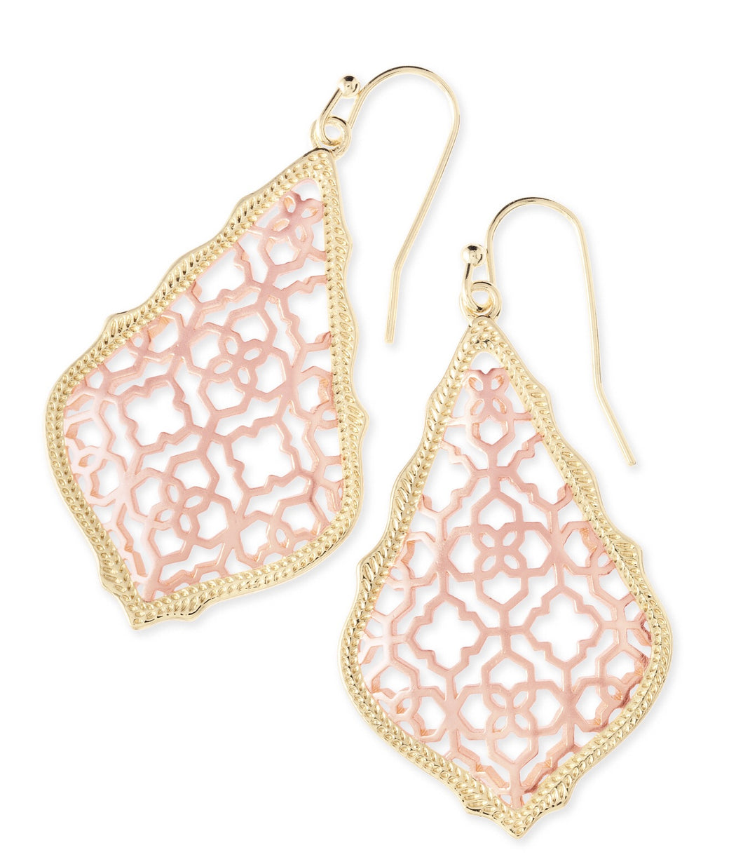 Kendra Scott Rose Gold Filigree Addie Earrings-Gold