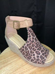 Lexi Leopard Wedge