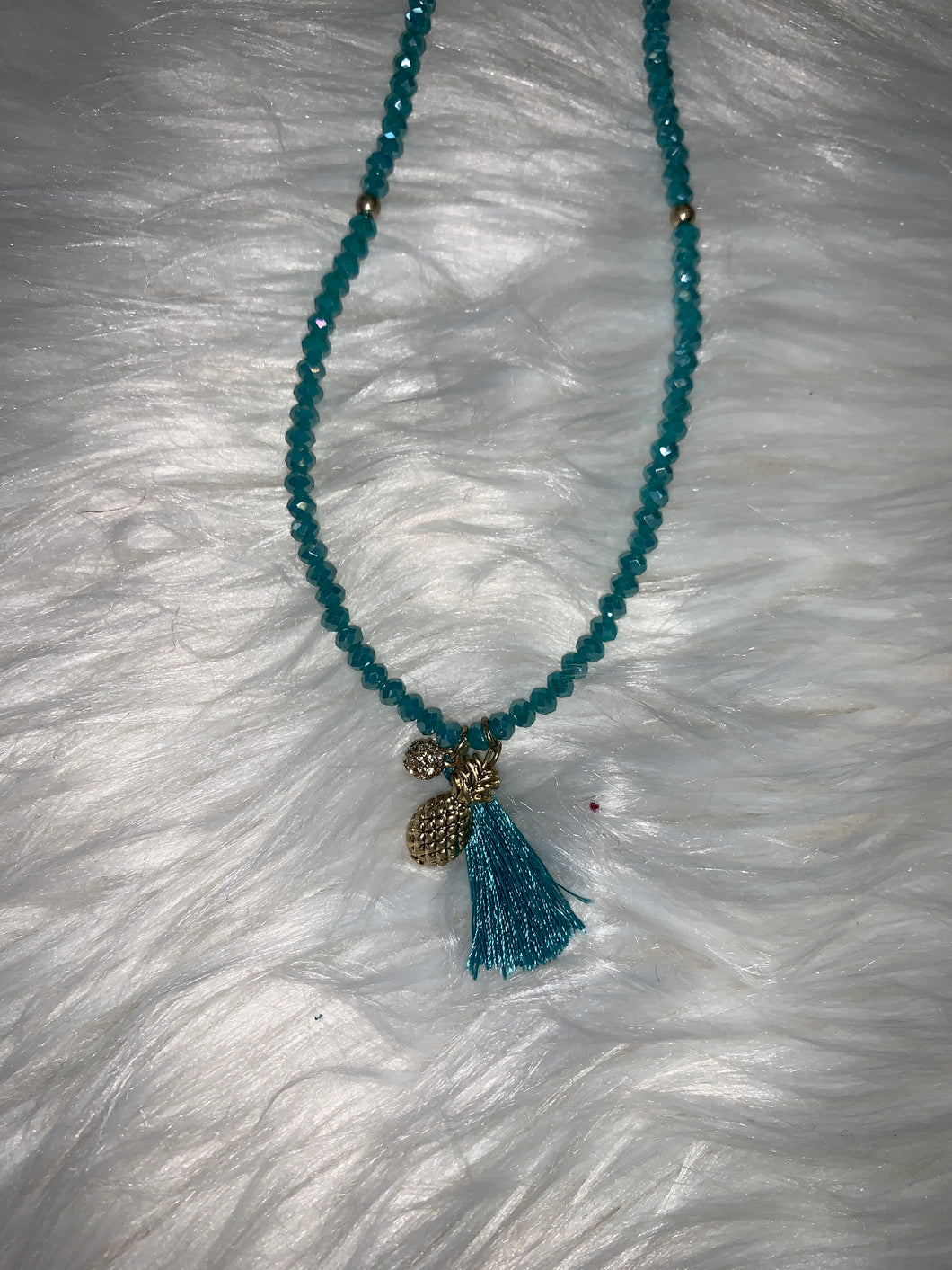 Canvas Trendy Necklace Turquoise