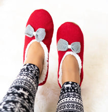 Load image into Gallery viewer, Sherpa Bow Slippers