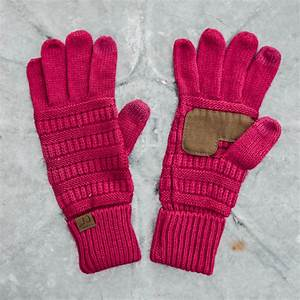 C.C Beanie Solid Tech Gloves