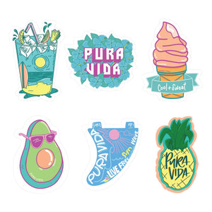 Puravida 6 Pack Sticker Sheet- Cool and sweet