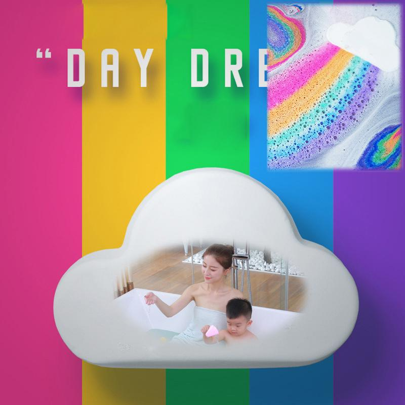 Rainbow cloud bath ball
