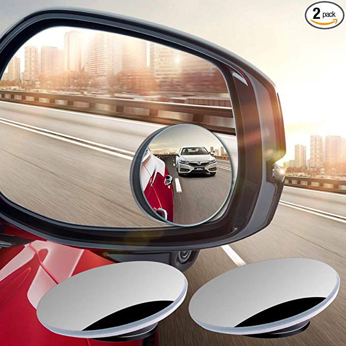 Round HD Glass Frameless Convex Blind Spot Mirror