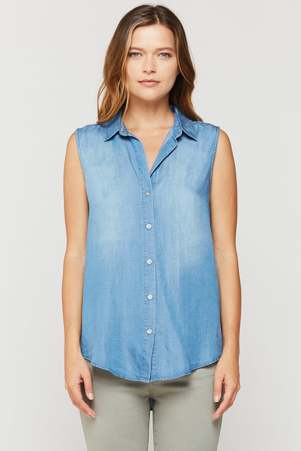 Desi Sleeveless Chambray